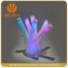 Party multicolor sound activated led foam flashing wand