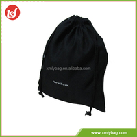 Top design large black waterproof drawstring bag polyester