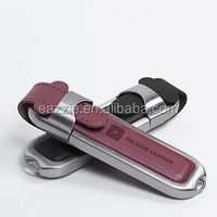 Leather USB Flash Drives Gift USB Drives Custom Printing for Promotion