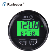 Digital speedometer for car motorcycle marine jet ski paramotor board witin voltage display within green backlight