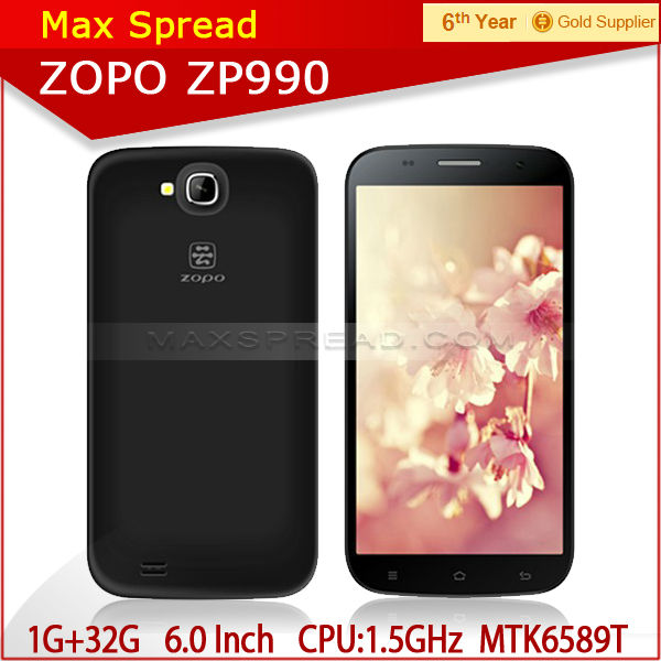 High quality zopo zp990 6inch android phone mtk6589T 1.5GHZ buying from china