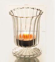 2016 China manufacturer sequre hurricane lantern candle holder with clear glass/ candle holder