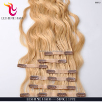 Alibaba Express Wholesale Price Shedding-free Cuticle Intact Bohemian Remy Clip In Human Hair Extension