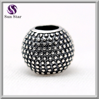 2016 alibaba china 925 anillo antiguo de plata de ley oxidized custom charms fit for original bracelets