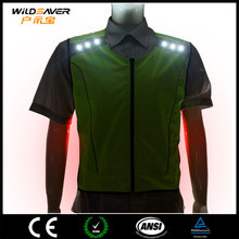Pro fabric led cycling jersey woman lighted jacket