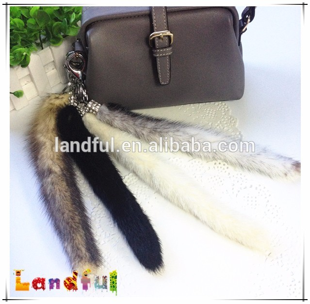 Small Fur Tail Keychain Tassel Bag Charm Handbag Accessory Fur Tail