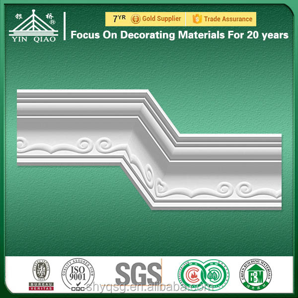 China Supplier Gypsum Ceiling Cornice /Chair Tail /Hips Baseboard /Moulding