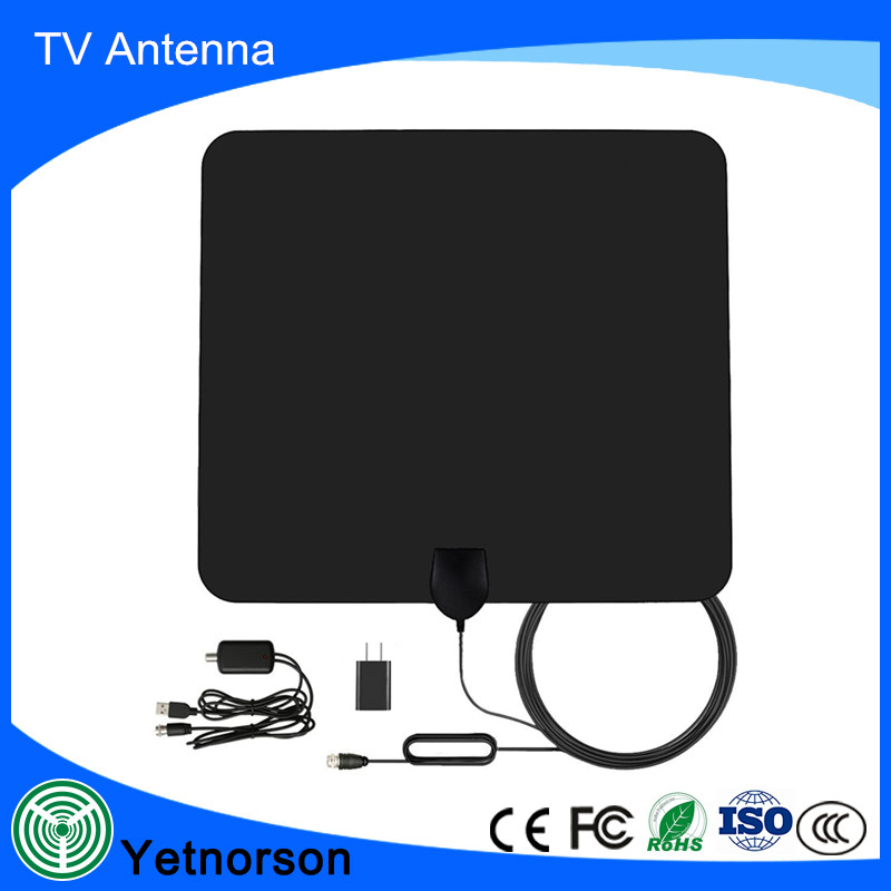 TV Antenna,GET Indoor Amplified HDTV Antenna with 50 Mile Range Detachable Amplifier Signal Booster