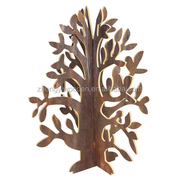 factory sale FSC&SA8000&BSCI Wooden Shop Christmas gift crafts tree with cheap price