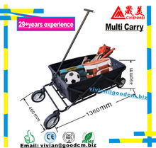 Folding Camping Wagon/Cart - Collapsible Sturdy Steel Frame Garden/Beach Wagon/Cart