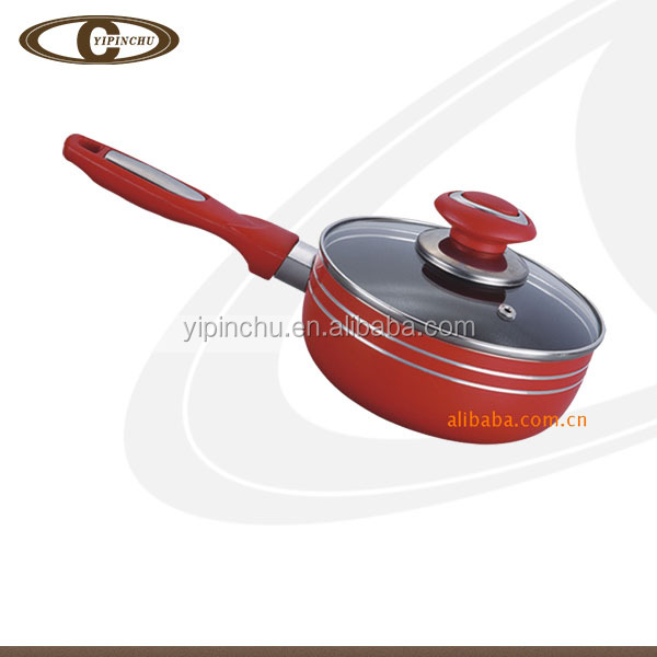 Quality Aluminum With Glass Lid nonstick Sauce Pan