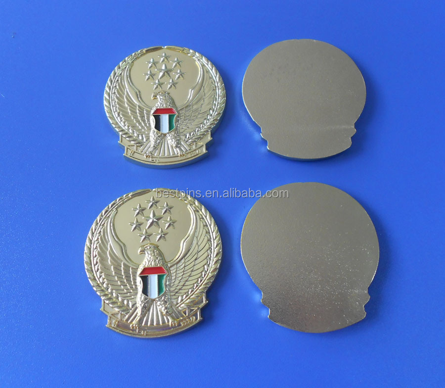 UAE Falcon Star Gold Sticker Hat Badge