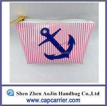 sailor icon pu cosmetic bag color blocking