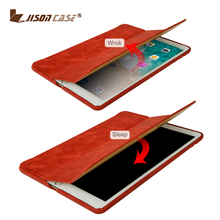 Chinese Manufacturer Smart Sleep and Wake Up Function Real Leather Case for iPad Pro 9.7 Inch Tablet Case