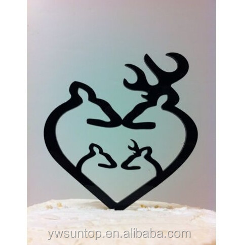 Deer Family Hunting Acrylic Cake Topper Wedding Decor Wholesale