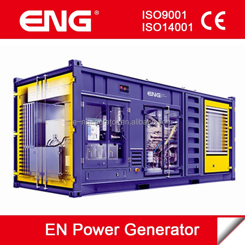 Best price of 1000kva diesel generator with 20GP container canopy