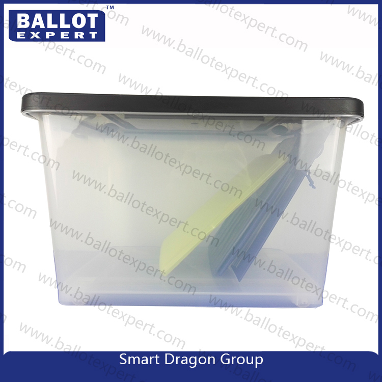 Plastic 60 Liter Letter Legal Storage File Box with Bulckles