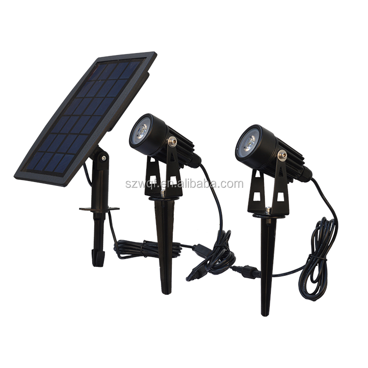 3.7V 2200mAh bateery 2.5 watts solar panel led garden light outdoor