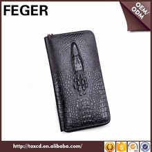 Dropshipping genuine leather man clutch bag on Alibaba