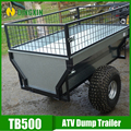 small garden 500kgs Galvanized car towed trailer