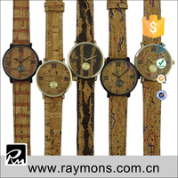 2015 New fashion design wood element dial lather band with life water proof cheap fashion wooden new design fashion girls watch