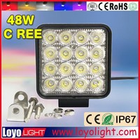 china price cr ee 4x4 off road 48w work light for Jeep, truck lamp auto accessories parts