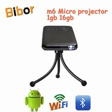 M6 1g16g android4.4 Home Portable Electric Light Projector with Speaker