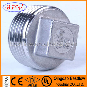 Forged Steel High Pressure Socket Weld Pipe Fitting Square Head Plug