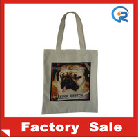 Factory wholesale eco friendly customized canvas cloth shopping bag for promotion