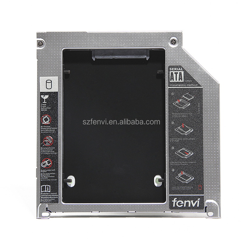 Universal Second HDD 9.5mm Caddy Compatible with HDD and SSD Hard Drive Caddy for MacBook