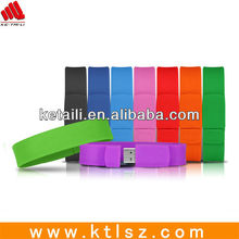 customized silicone waterproof usb bracelet wristband with usbsilicone slap band usb flash drive