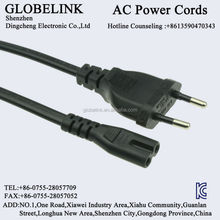 Korea KC AC power cable 2PIN male end type ICE C8 C7