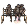 Directly Factory bronze see no evil monkey for garden decoration