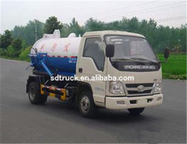 Municipal Equipment Vacuum Sewage Drainage Suction Tanker Truck with low price