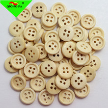 HYD Wholesale Cheaper Price Natural Wood Button Manufacture Round Thin Side Four eye Wooden Shirt Overcoat Trousers Button