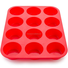 Silicone Mini Muffin Pan, 12 Cup Premium Cupcakes Pan Shapes