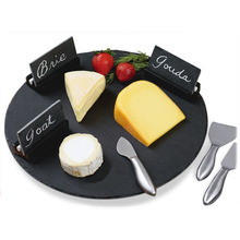 Fashionable Black Slate Stone Cooking Plate