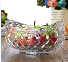 factory price 2017 ship shape Bubble design machine-made glass fruit/salad/ice cream bowl for table decoration centerpiece