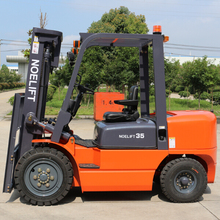 noelift japanese mini 3.5ton articulated frame diesel forklift with tool box kit