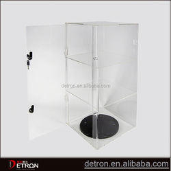 Clear acrylic jewelry rotating display case