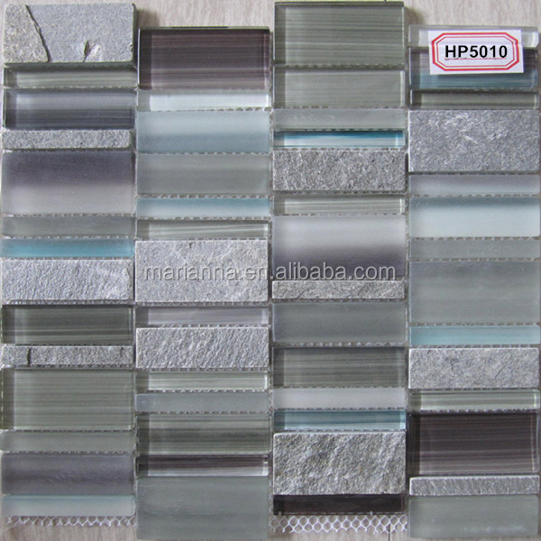 Hot sale glass and stone mosaic tile backsplash HP5010 in foshan factory