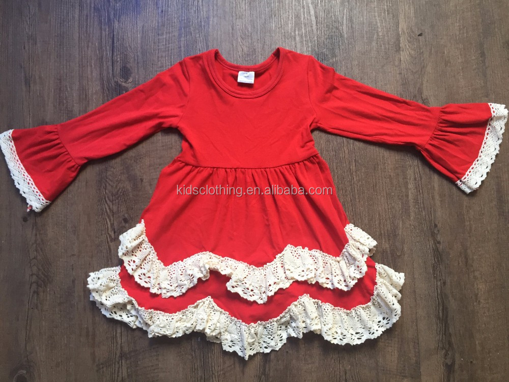 baby girls christmas pageant dresses children frocks designs for winter low MOQ girl boutique dress