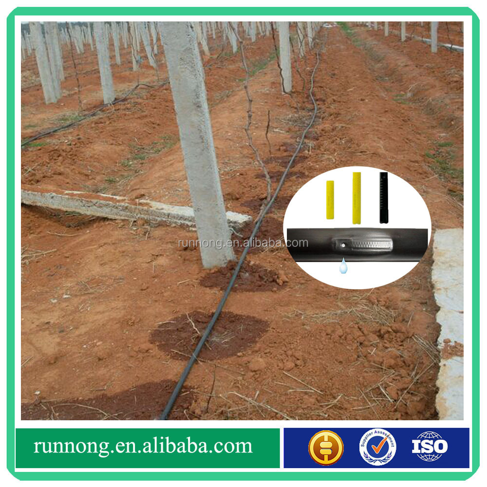 agriculture inline flat dripper irrigation pipe