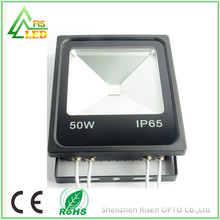 Professional RGB color changing IP65 waterproof outdoor DMX 512 control LED flood light 50W