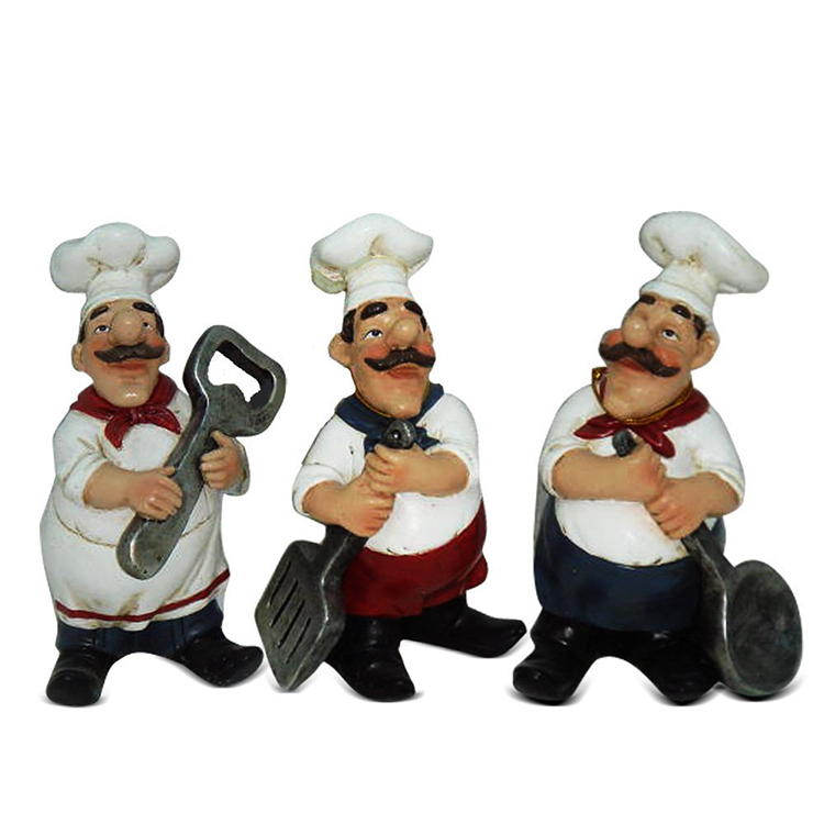Custom Resin Handmade Funny Serving Fat Chef Figurin