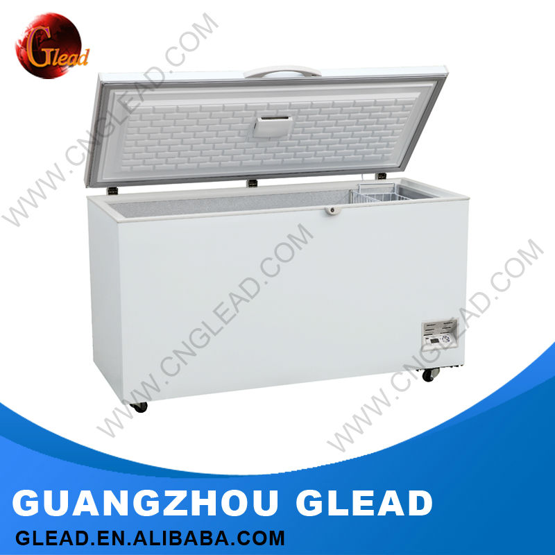 500L Stainless steel Wholesale White Color mini Chest Freezer