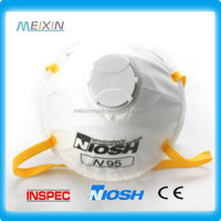 N95 dust face mask custom print on whiteboard meixin PPE Factory