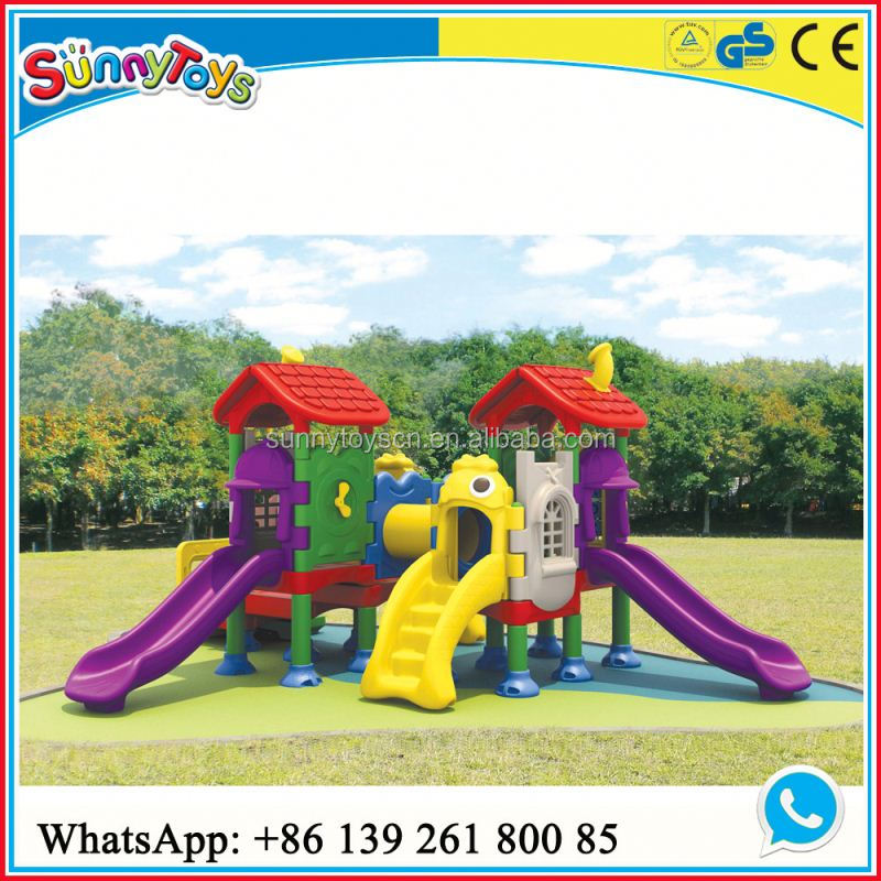 Kids Hot Sale preschool kids sports playground slide roof