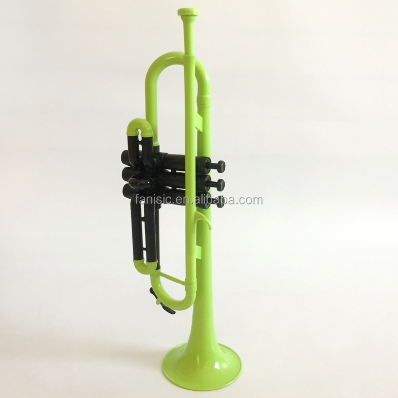 colorful trumpet Bb key,plastic trumpet playable as brass trumpet, ABS trumpet
