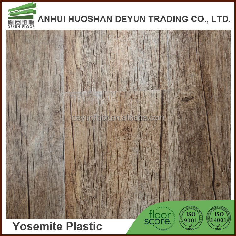 2016 Best Selling Wood Textured Dry Back Vinyl Plank